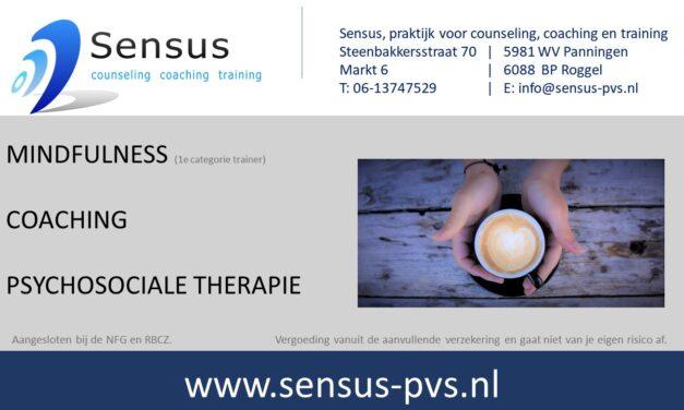 Sensus, praktijk voor counseling, coaching en training