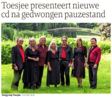Toesjee met nieuwe CD in Limburgs Dagblad